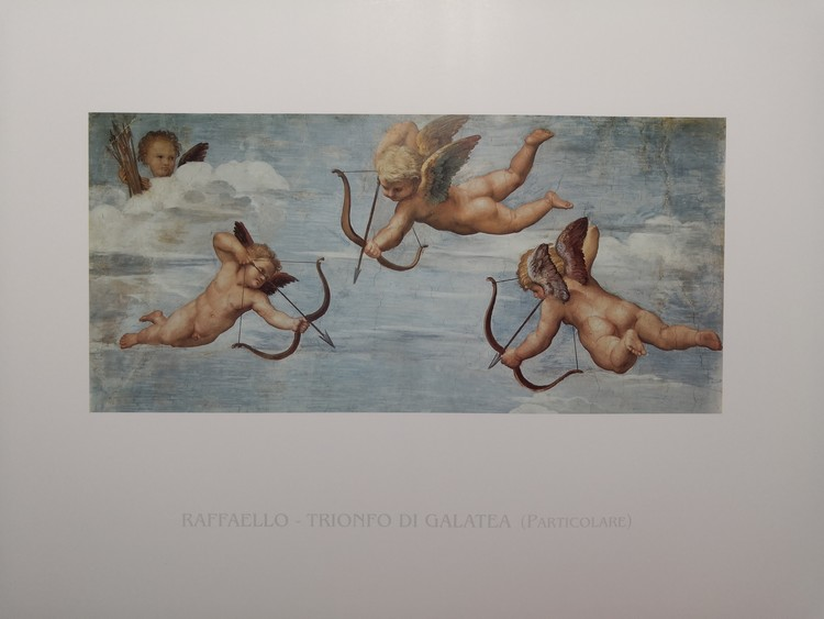 Obrazová reprodukce Rafael Santi - Triumf Galatei (část)