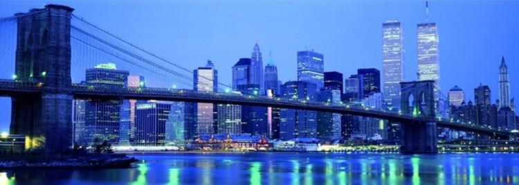 Obrazová reprodukce Richard Berenholtz - Brooklyn bridge To Downtown Mangattan