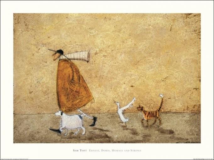 Obrazová reprodukce Sam Toft - Ernest, Doris, Horace And Stripes