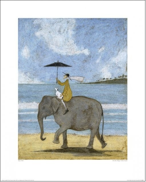 Sam Toft - On The Edge Of The Sand Obrazová reprodukcia