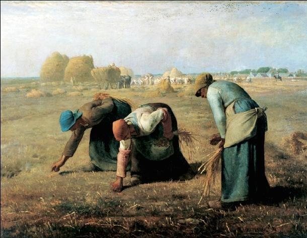 Obrazová reprodukce  Sběračky klasů, 1857