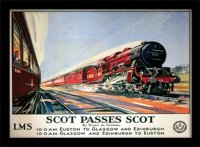 Scot Passes Scot zarámovaný plakát