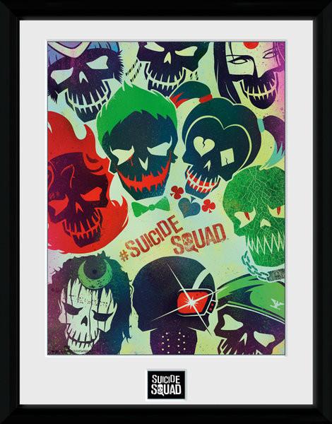 Sebevražedný oddíl - Skulls zarámovaný plakát