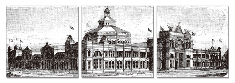 Obraz Šedá památná budova