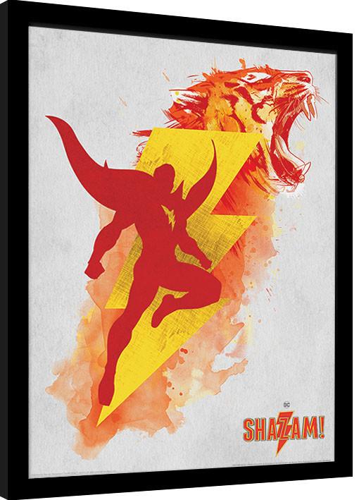 Shazam Shazams Might Oprawiony Plakat Obraz Kup Na Posterspl