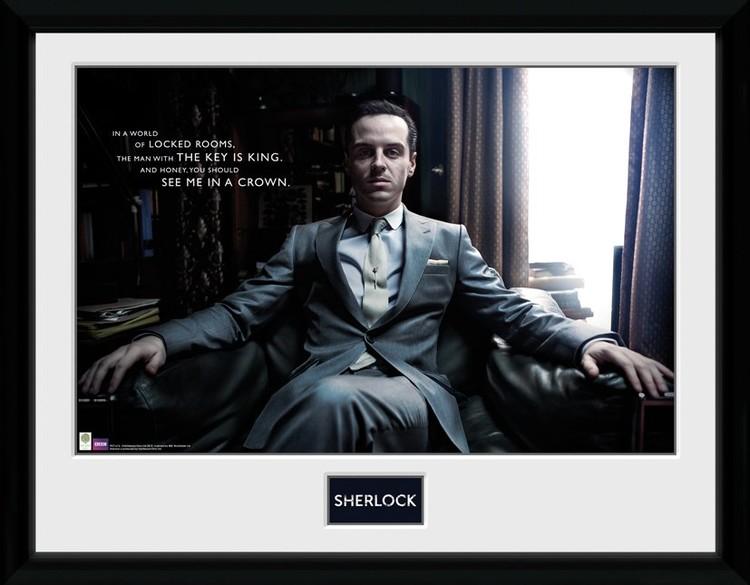 Sherlock - Moriarty Chair zarámovaný plakát