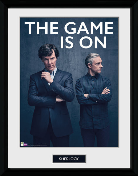 Sherlock - The Game Is On zarámovaný plakát