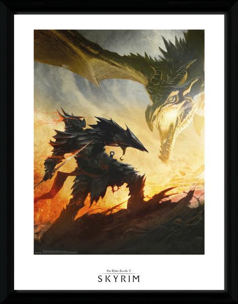 Skyrim - Daedric Armour zarámovaný plakát