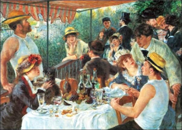 Obrazová reprodukce  Snídaně veslařů, 1880-81