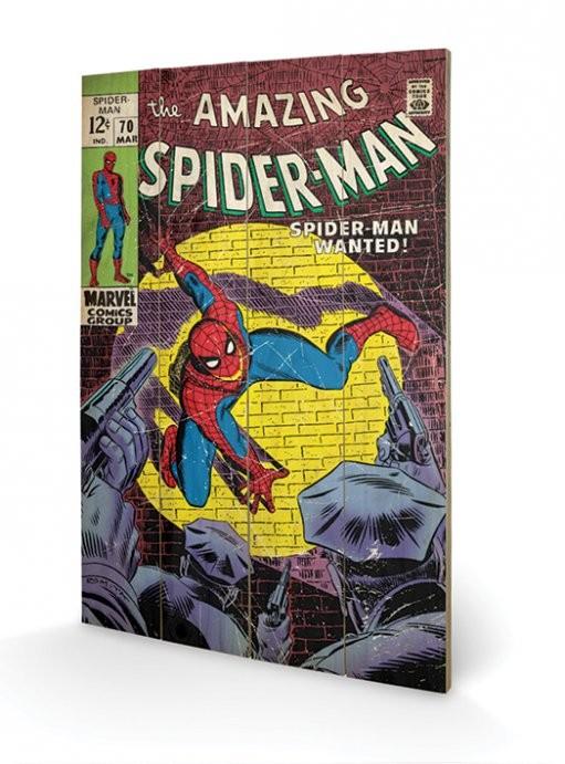 Obraz na drewnie Spiderman - Wanted