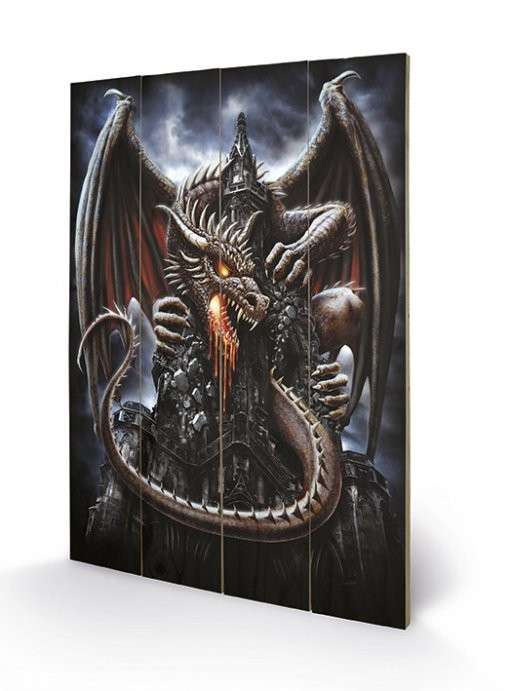 Obraz na drewnie Spiral - Dragon Lava