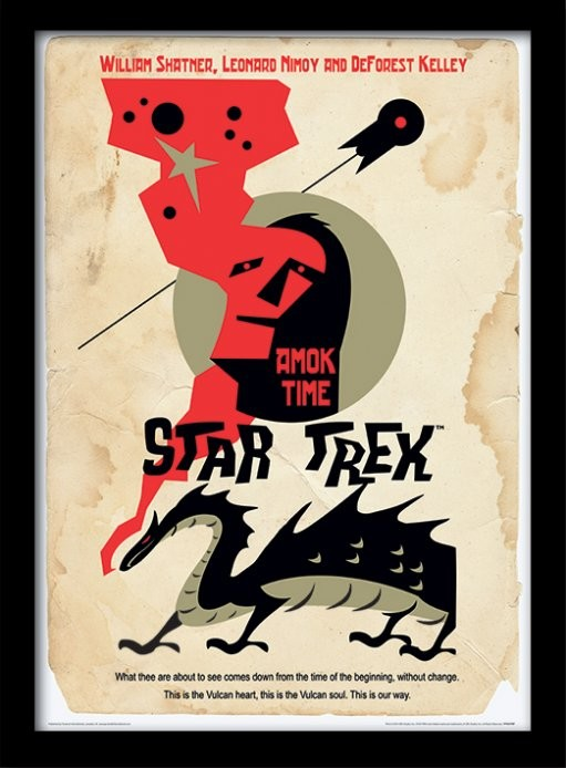 Star Trek - Amok Time zarámovaný plakát