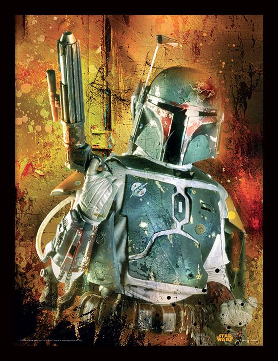 Star Wars - Boba Fett Painted zarámovaný plakát