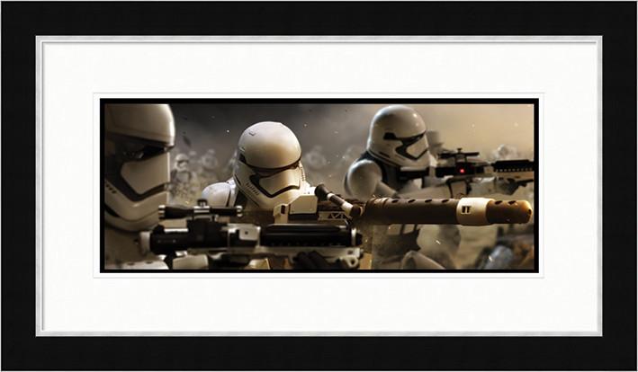 Star Wars : Epizóda VII - Stormtrooper Trench Zarámovaný plagát