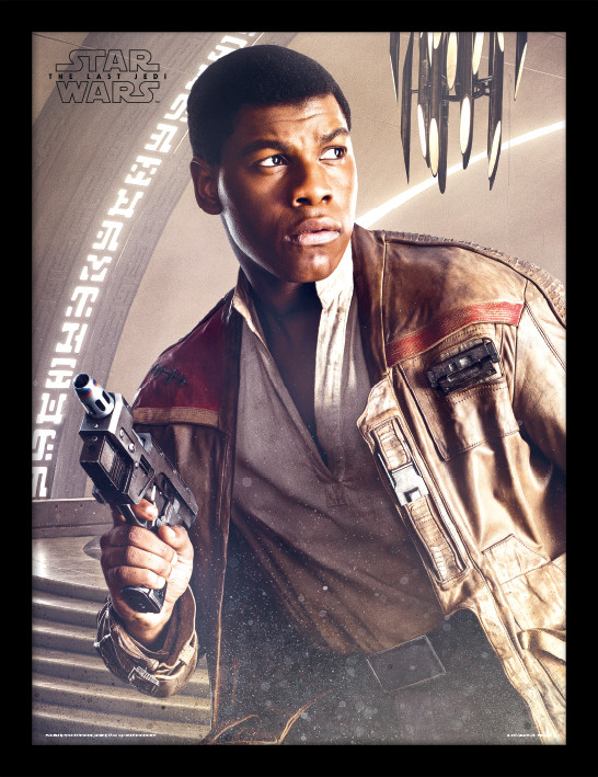Star Wars: Poslední z Jediů - Finn Blaster zarámovaný plakát