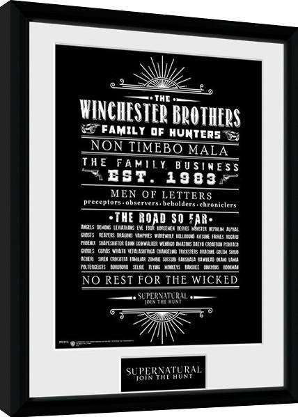 Supernatural - Family Business zarámovaný plakát