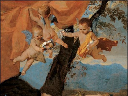 Obrazová reprodukce  Svatá rodina (část)