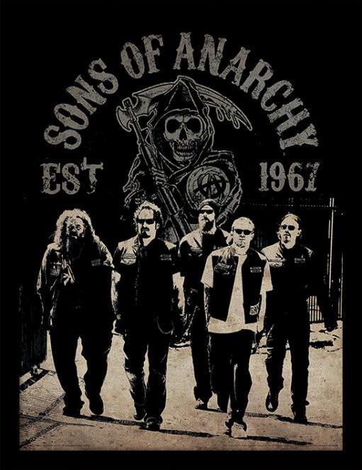 Synowie Anarchii - Reaper Crew oprawiony plakat