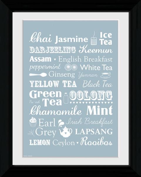 Tea - Types zarámovaný plakát