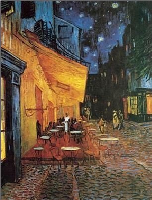 Obrazová reprodukce Terasa kavárny v noci, 1888 - Café Terrace at Night