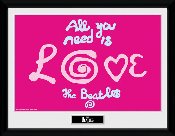 The Beatles - All You Need Is Love zarámovaný plakát