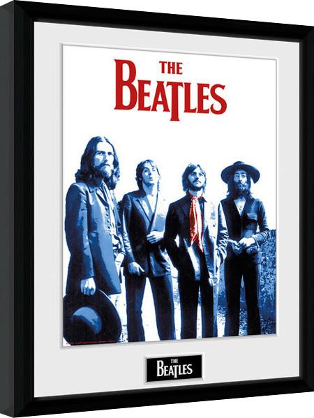 The Beatles - Red Scarf zarámovaný plakát