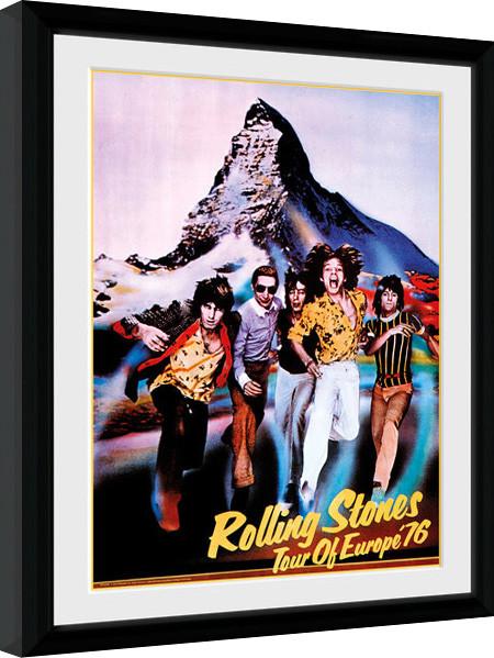 The Rolling Stones - On Tour 76 zarámovaný plakát