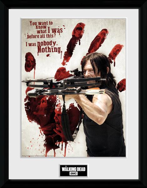 The Walking Dead - Daryl Bloody Hand Zarámovaný plagát