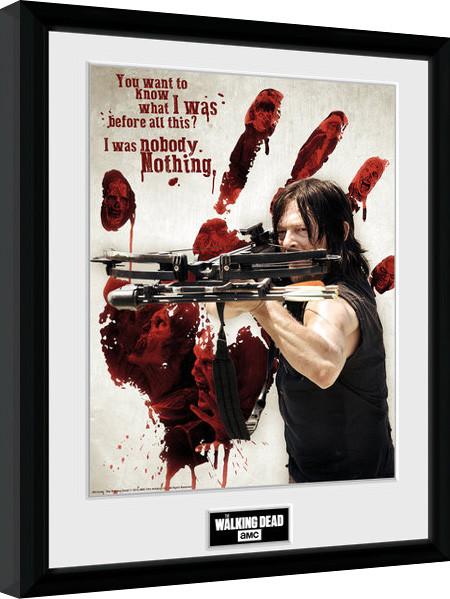 The Walking Dead - Daryl Bloody Hand zarámovaný plakát