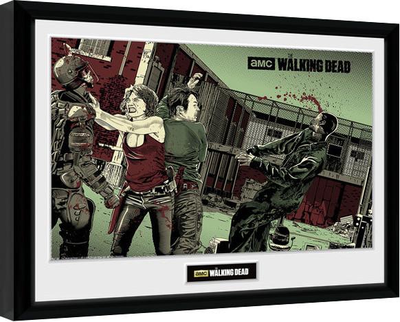 The Walking Dead - Maggie Glen zarámovaný plakát