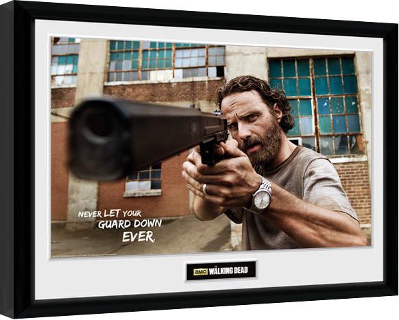 The Walking Dead - Rick Gun zarámovaný plakát