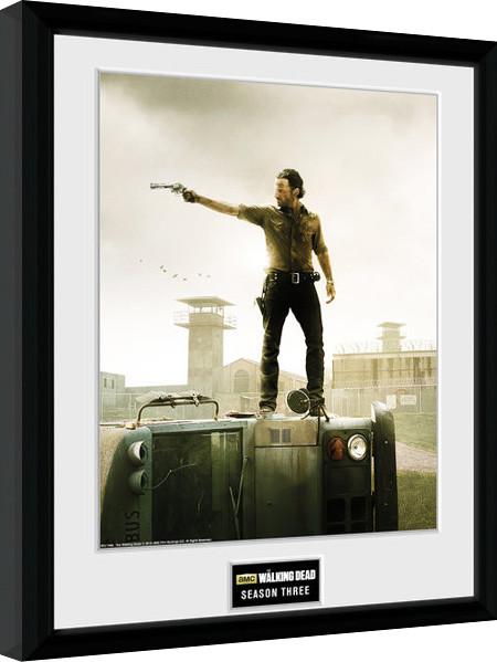 The Walking Dead - Season 3 zarámovaný plakát