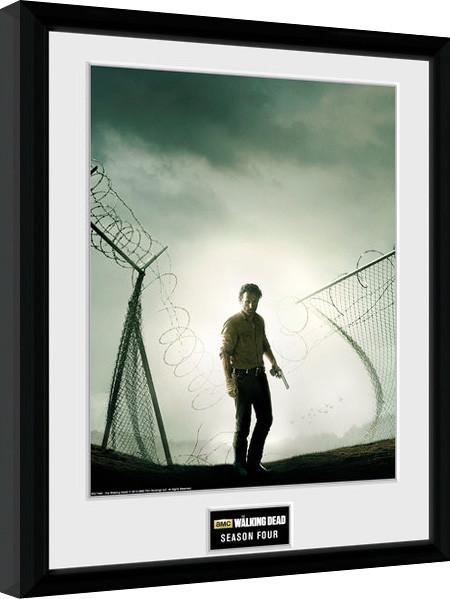The Walking Dead - Season 4 zarámovaný plakát
