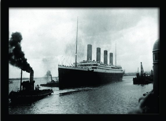 TITANIC (4) zarámovaný plakát