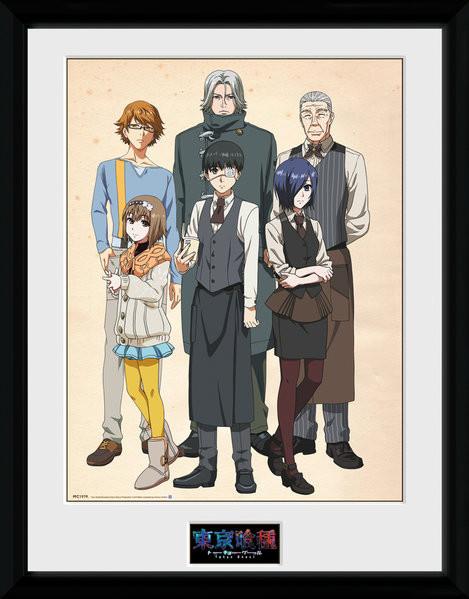 Tokyo Ghoul - Antique zarámovaný plakát
