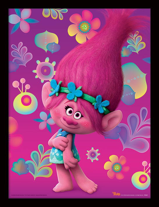 ed3e7695e Trollovia - Poppy - Zarámovaný plagát, Obraz na stenu na Posters.sk