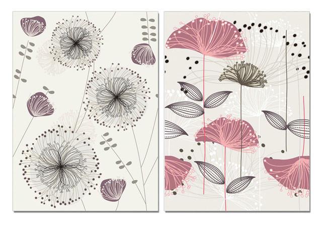 Obraz Umění - náčrt květin