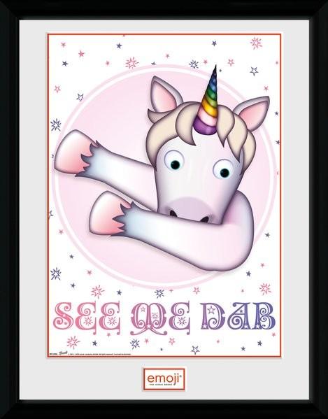 Unicorn - Emoji zarámovaný plakát