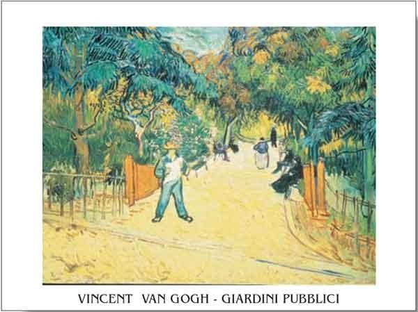 Obrazová reprodukce  Vchod do veřejné zahrady v Arles, 1888