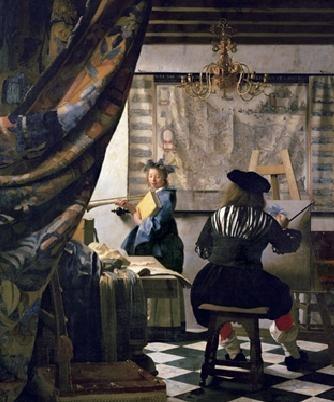 Obrazová reprodukce  Vermee - Alegorie malířství, 1666-73