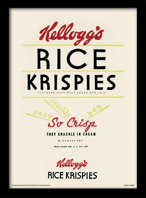 Vintage Kelloggs - Rice Krispies zarámovaný plakát