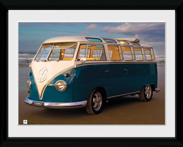 VW Brendan Ray - Blue Kombi Zarámovaný plagát