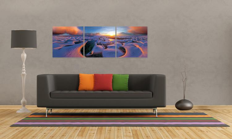 Obraz  Východ slunce na pobřeží