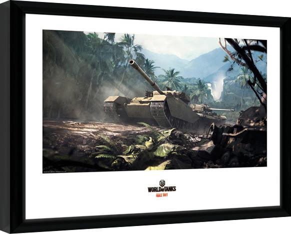 World of Tanks - Forest Tanks zarámovaný plakát