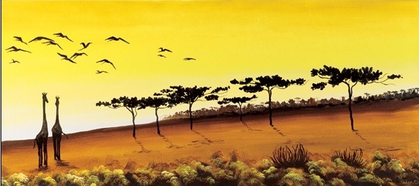 Obrazová reprodukce  Žirafy, Afrika