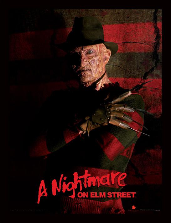 Zarámovaný plakát A Nightmare On Elm Street - Freddy Krueger