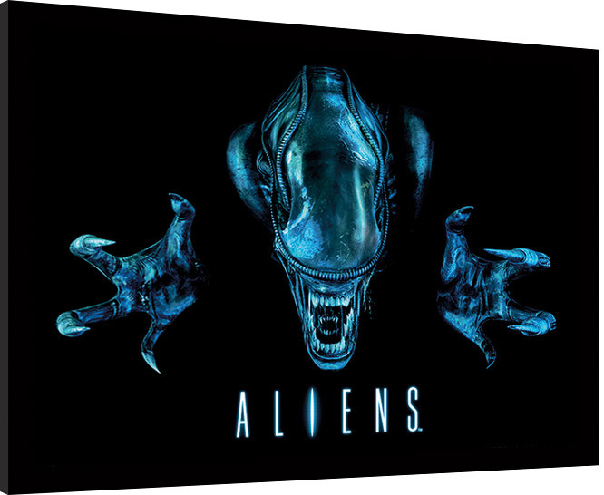 Oprawiony plakat Aliens - Out of the darkness