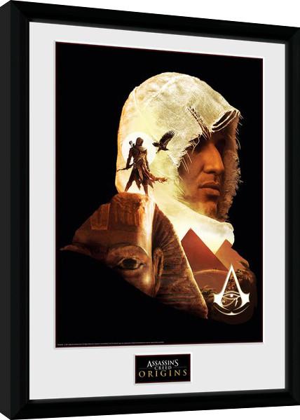 Zarámovaný plakát Assassins Creed Origins - Face