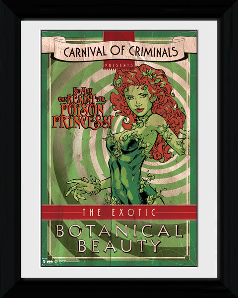 Zarámovaný plakát Batman Comic - Circus Poison Ivy