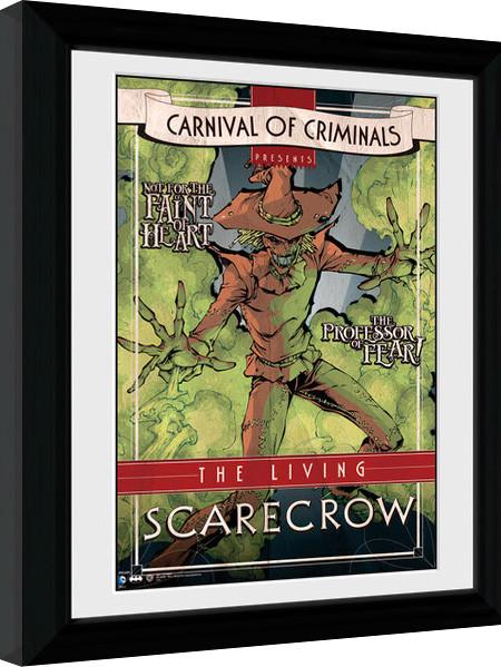 Oprawiony plakat Batman Comic - Circus Scarecrow
